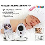 Cheap Homevol Video Baby Monitor with LCD Display, Digital Camera, Infrared Night Vision, Two Way Talk Back, Temperature Monitoring, Lullabies, Long Range and High Capacity Battery