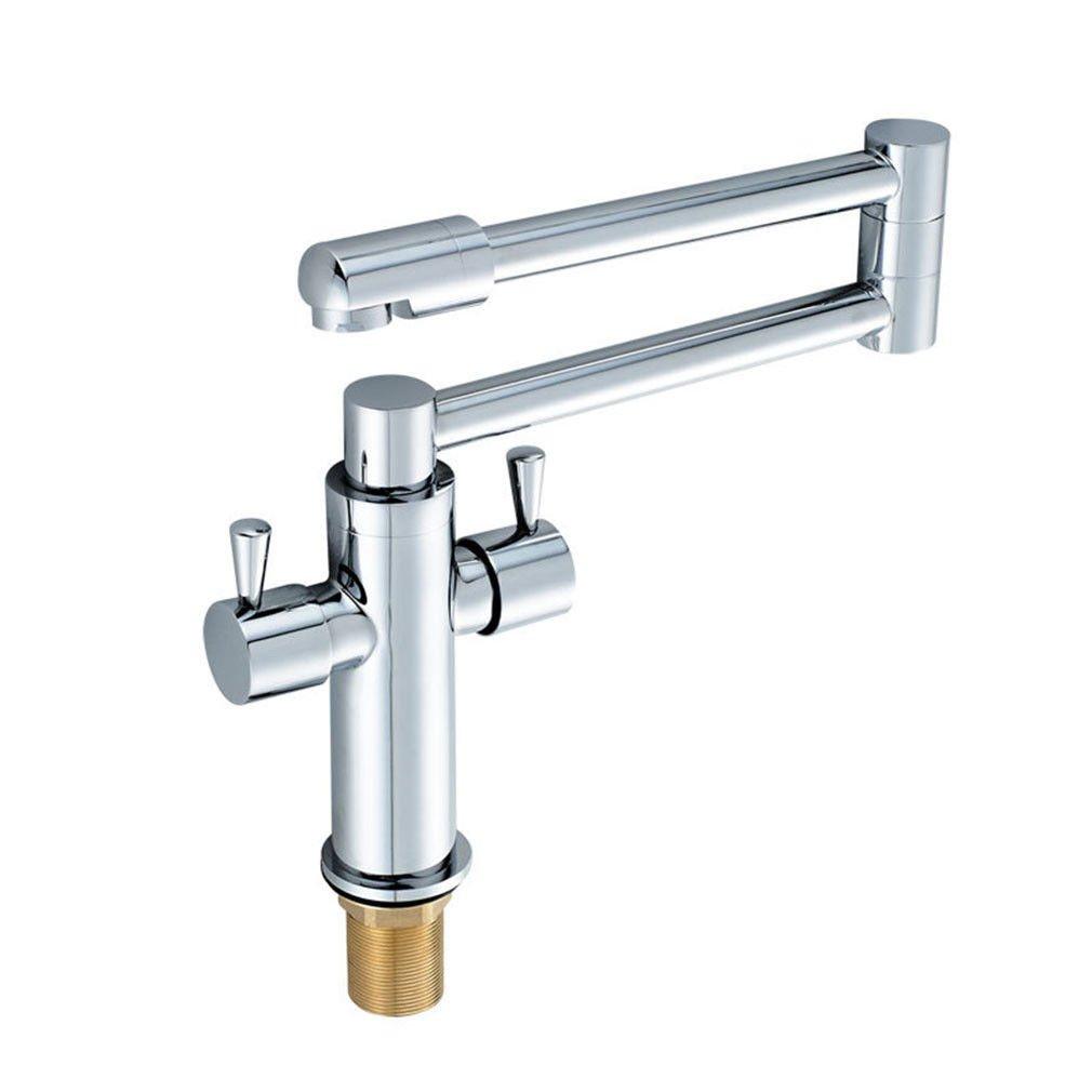 MEIBATH Waschtischarmatur Badezimmer Waschbecken Wasserhahn Küchenarmaturen Moderne Messing Chrom Drehbar Küchen Wasserhahn Badarmatur