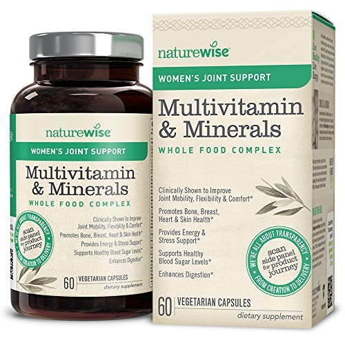 NatureWise Women's Multivitamin with Joint Support | Whole Foods, Vitamins & Minerals for Healthy Heart & Bones (⬇ Watch Product Video in Images) + UC-II Collagen for Joint Mobility & Comfort | 60 Ct Review