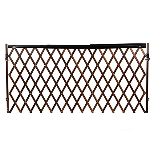 (Evenflo Expansion Swing Wide Gate Extra-Wide Gate Farmhouse, Dark Wood)