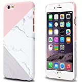 Jwest Unique Marble Design, iPhone 6 6S Case Pink Geometric Anti-Scratch &Fingerprint Shock Proof Thin Non Slip Matte Back Hard Protective Cover for iPhone 6 6S 4.7 inch