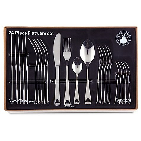 Amazon.com | Disney Theme Park Exclusive Mickey Icon 24 Piece Flatware Set Mickey Mouse Flatware Flatware Sets  sc 1 st  Amazon.com & Amazon.com | Disney Theme Park Exclusive Mickey Icon 24 Piece ...