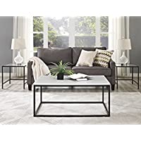 WE Furniture 42' Mixed Material Coffee Table - Marble