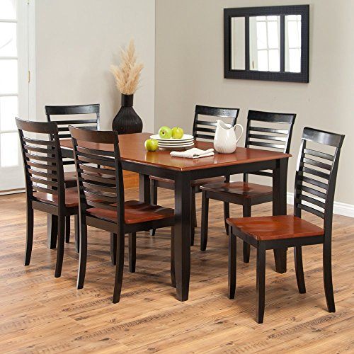 Boraam Bloomington Dining Table Set   Black/Cherry