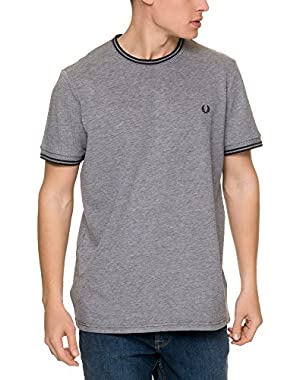 Men's Twill Jersey T-Shirt Men's T-Shirt In Grey in Size XL Grey