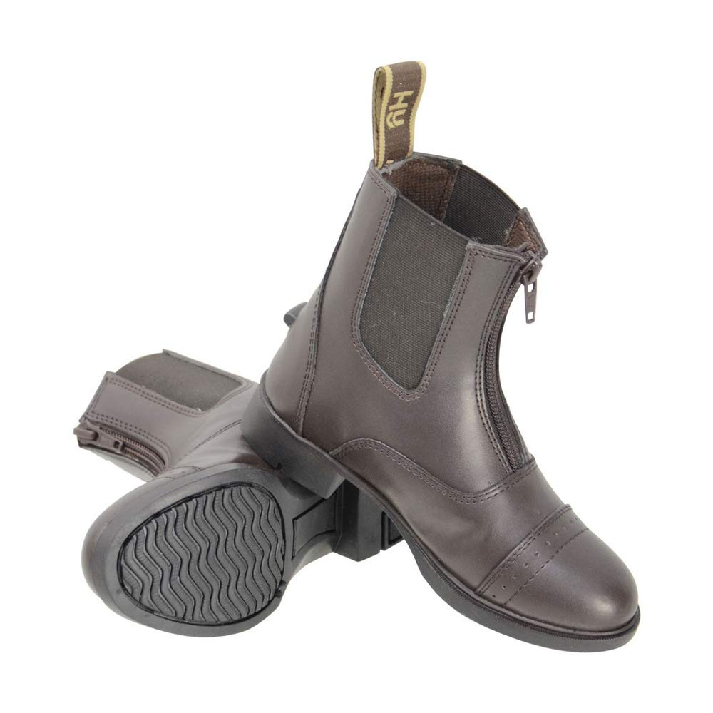 HyLAND Childrens/Kids York Synthetic Combi Leather Zip Jodhpur Boots