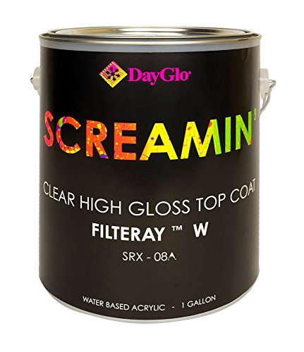 - DayGlo Water Based Screamin Fluorescent Paint (Gallon, Filteray, SRX-08A)