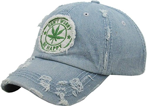 KBETHOS KBVT-1062 LDM Leaf Marijuana Weed Vintage Distressed Dad Hat Baseball Cap Adjustable (Accessories Clothes And)