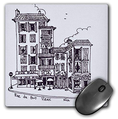 3dRose Danita Delimont - France - Rue du Port Vieux in Nice, France - Mousepad (mp_313147_1)