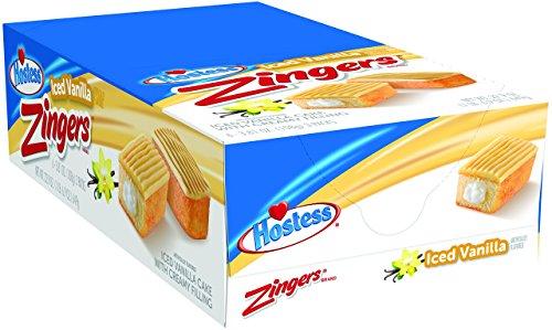 Hostess Zingers, Iced Vanilla, 3.81 Ounce, 6 Count