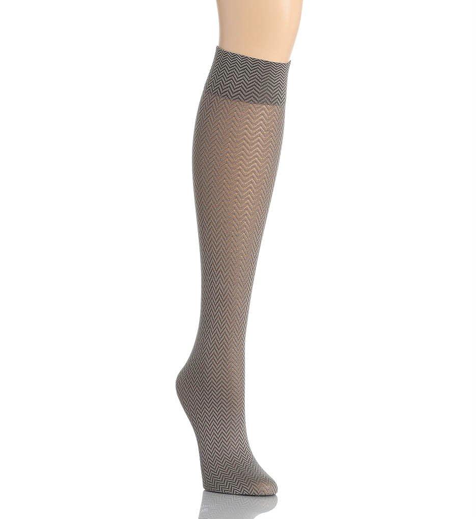 cc75f5dbe20aa DKNY Hosiery Knee Socks Chevron (0B739) one size/Steel: Amazon.in: Clothing  & Accessories