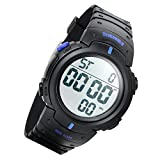 Lancardo 50M Water Resistant Multi-Function Digital Led Sport Swim Training Student Boy Watch(Blue,2Pcs)