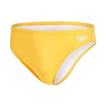 Speedo Solid BRF Am Traje de baño, Mango, 28