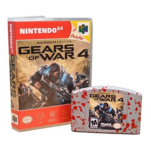 Nintendo 64 Custom Cart Gears of War 4 Display Art Gag Gift Funny Present -