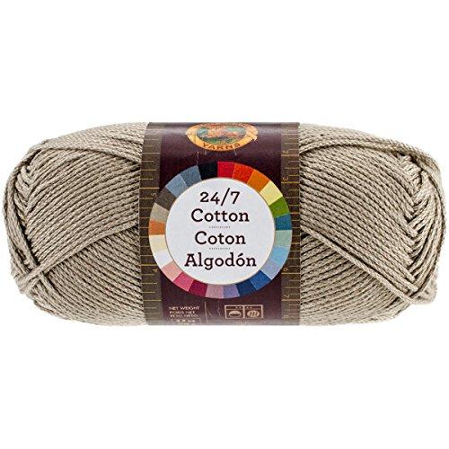 Lion Brand Yarn 761-122 24-7 Cotton Yarn, Taupe ()