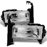 Dodge Dakota | Durango Chrome Driver Left + Passenger Right Side Headlights Replacement Pair Set