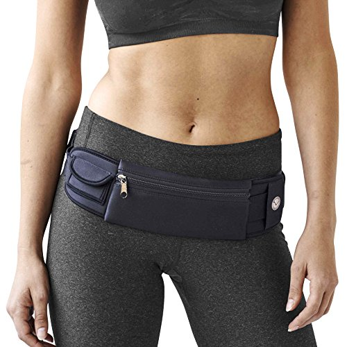 Amazing Running Belt (TM) fits iPhone 6 Plus. Waist Pouch for Running keeps Credit Cards, Cash, Makeup, ID. Running Waist Pack & iPhone Holder for Sports, Working Out, Walking, Hiking, and Travel