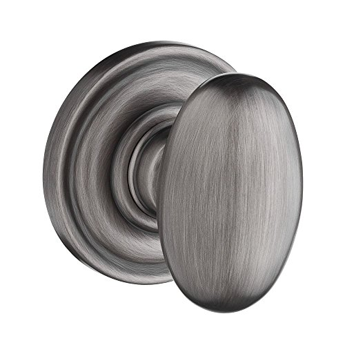 Baldwin PSELLTRR152 Reserve Passage Ellipse with Traditional Round Rose in Matte Antique Nickel Finish