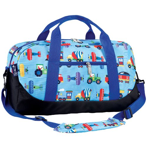 Olive Kids Trains Planes And Trucks Overnighter Duffel Bag