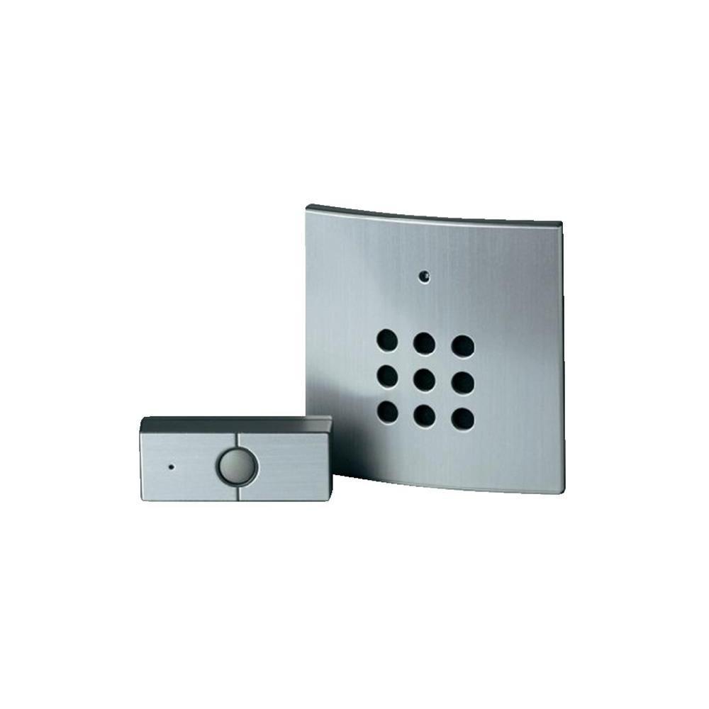 Heidemann HX STEEL Wireless Silver Doorbell Set: Amazon.co.uk: DIY ...