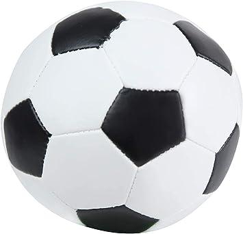 Lena 62177 Soft - Balón de fútbol (13 cm, para Interior y Exterior, para niños y niñas, a Partir de 12 Meses), Color Blanco y Negro