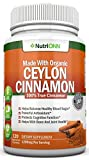 Organic Ceylon Cinnamon – 1200mg – 120 Capsules – True Cinnamon – Powerful Antioxidant – Helps Balance Blood Sugar – Has Anti-Microbial, Anti-Fungal, Immunity Boosting and Heart Protecting Abilities Review