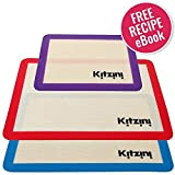 #8: Silicone Baking Mat Set of 3 - Nonstick - Two Half Sheet Mats (16.5