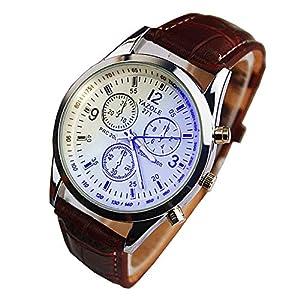 Reloj de Pulsera de Cuarzo de Cuero PU de Estilo clásico para Mujer Reloj de Pulsera de número Romano de Moda de TheBigThumb 51QNG8Mb0wL