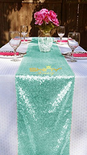 Sequin Sparkly Metallic Wedding Reception