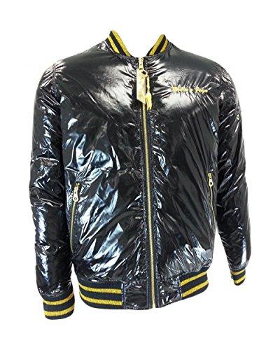 Robin's Jean Men's Reversible Bubble Jacket RJ7957 Black/Gold 3XL