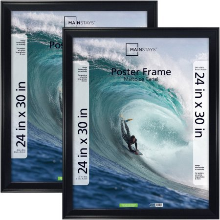 Amazon.com: Mainstays 24x30 Casual Poster Frame, Black, 2pk: Cell ...