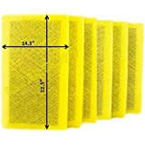 MicroPower Guard Replacement Filter Pads 16X25 Refills (6 Pack)