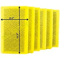 Ray Air Supply 16x25 MicroPower Guard Air Cleaner Replacement Filter Pads (6 Pack) YELLOW