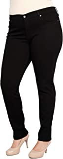 product image for James Jeans Women's Plus-Size Twiggy Z Five-Pocket Skinny Jean in Black Clean
