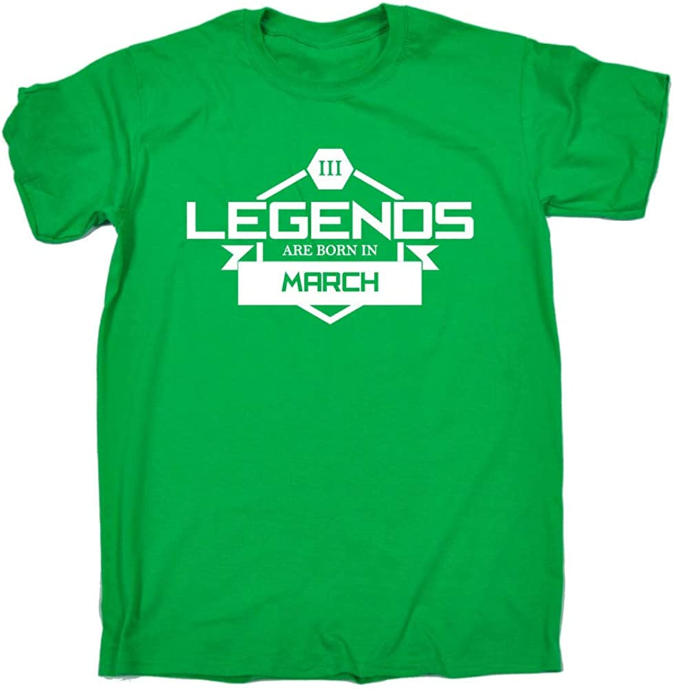 Legends Are Born In March T-Shirt Birthday Month Joke tee Gift Birthday