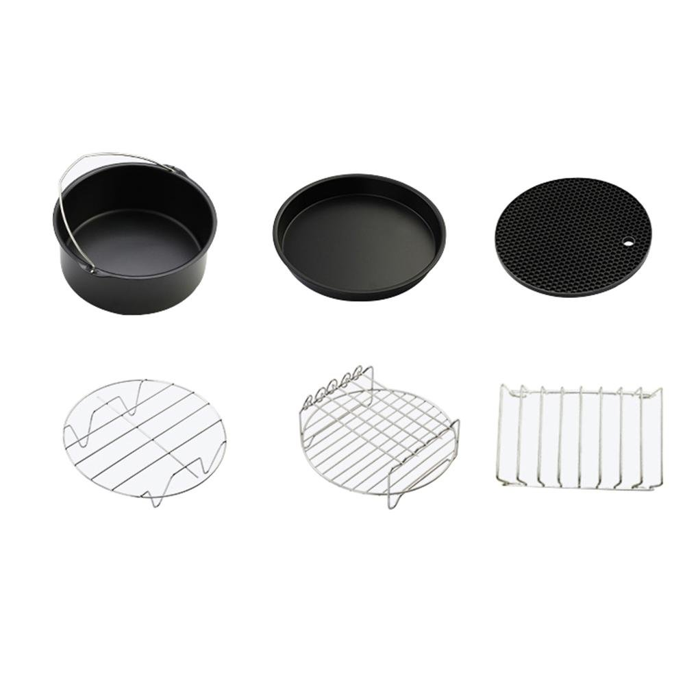 Amazon.com: Aolvo Home Air Frying Pan Accessories Fryer Baking Basket Pizza Plate Grill Pot Mat 7
