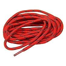 Heavy Duty proTOUGH(TM) Kevlar Reinforced Boot Laces Shoelaces RED w/ BLACK Kevlar - 2 Pair Pack