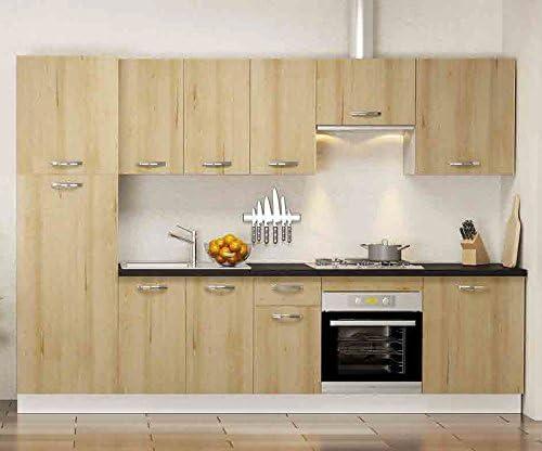 Conjunto muebles de Cocina Haya Natural - LuxoMobel: Amazon.es: Hogar