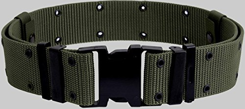 U.S. G.I. Military Surplus Pistol Belt with Black Quick-Release Buckle Foliage-Large