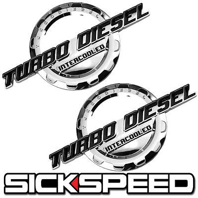 Amazon.com: 2 Pc Black/Chrome Turbo Diesel Engine Motor Badge For Trunk Hood Door Tailgate for Audi 5000: Automotive