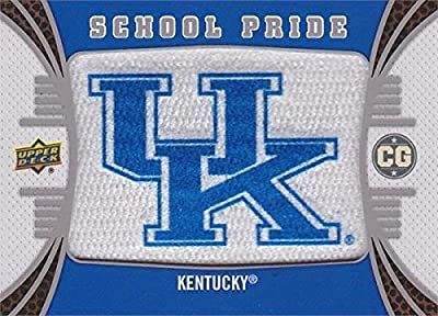 Kentucky Wildcats School Pride Logo Patch Football Card 2014 Upper Deck Conference Greats #P-12
