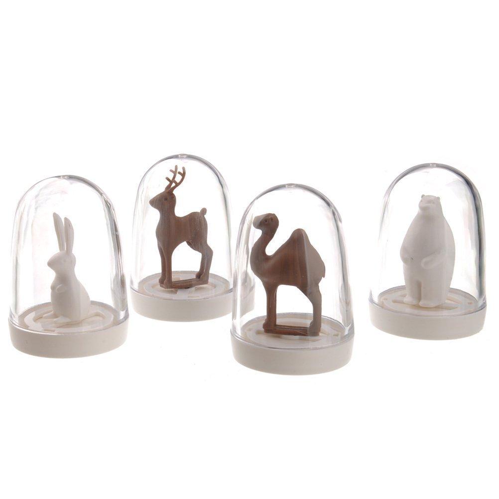 KINGSUNG Creative 4 Pcs Animal Paradise Plastic Kitchen Seasoning Box Spice Jar Salt And Pepper Shaker Set