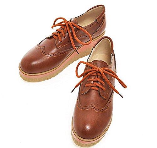 Frau Frühling Aufzugsschuhe dicke Kruste Muffin beiläufige Schuhe, flache Schuhe Schuhe Spitze , US5.5 / EU35 / UK3.5 / CN35