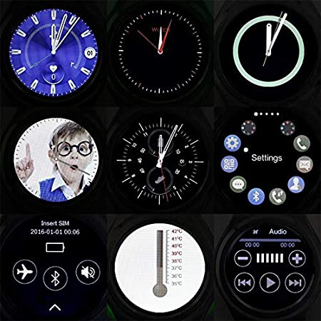 Bluetooth Smartwatch 1.3in Touch Screen Water Resistant with ...