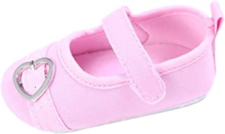 Chaussures de Sport Longra Garçons Filles Coeur Design Chaussures Hasp Bambin Doux Unique Baskets (11, Rose)