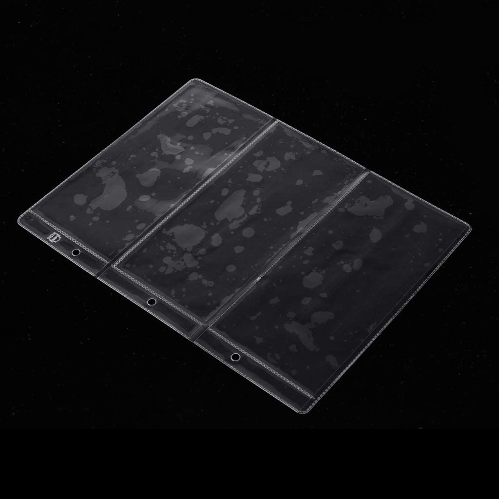dailymall 10x 3 Plastic Clear Currency Banknote Collection Album Storage Pages