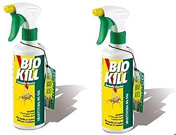 Bio Kill – Insecticida spray Formula Classic 2 paquetes de 500 ml ○ eficaz contra todos