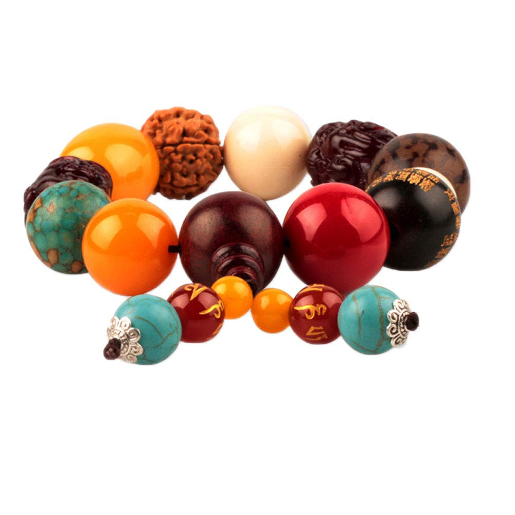 Move on Car Gear Shift Wood Buddha Beads Bracelet Rearview Mirror Hanging Ornament Decor S by Move on (Image #4)