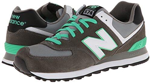 888546362376 - New Balance Men's ML574 Core Plus Classic Running Shoe, Grey/Green/White, 12 D US carousel main 5