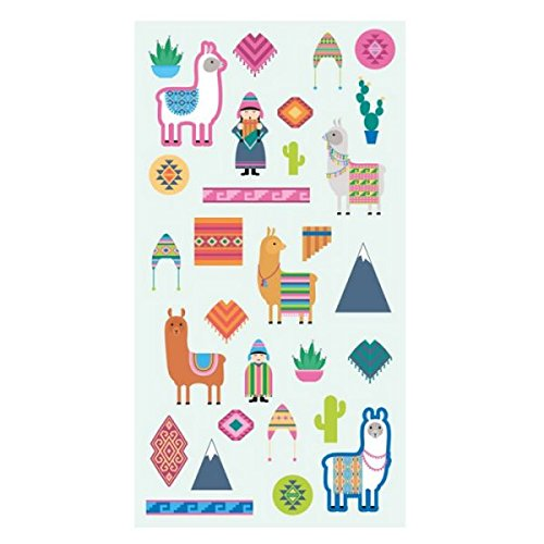 Artemio - Pegatinas de puffics, diseño de Lamas y Alpacas